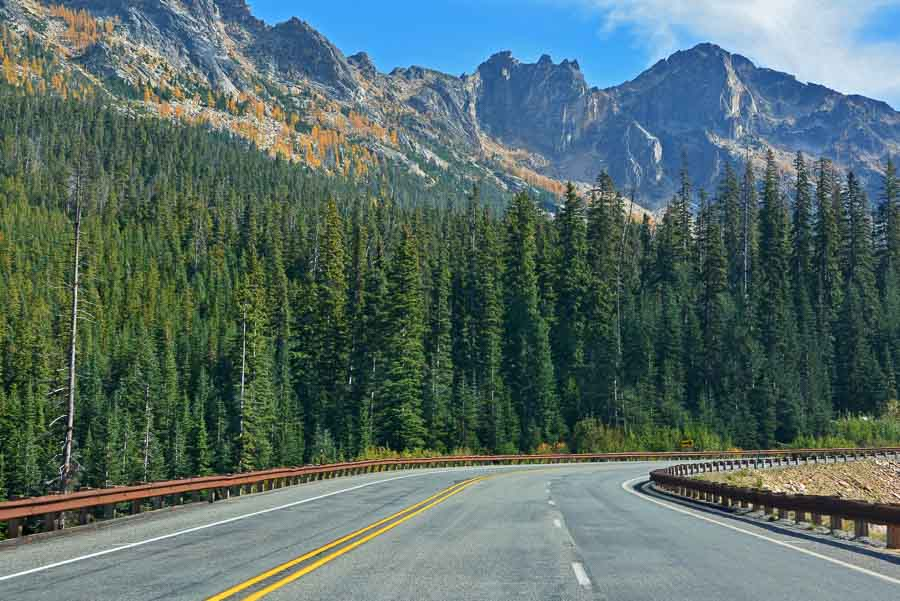 Driving the North Cascades Loop in Washington