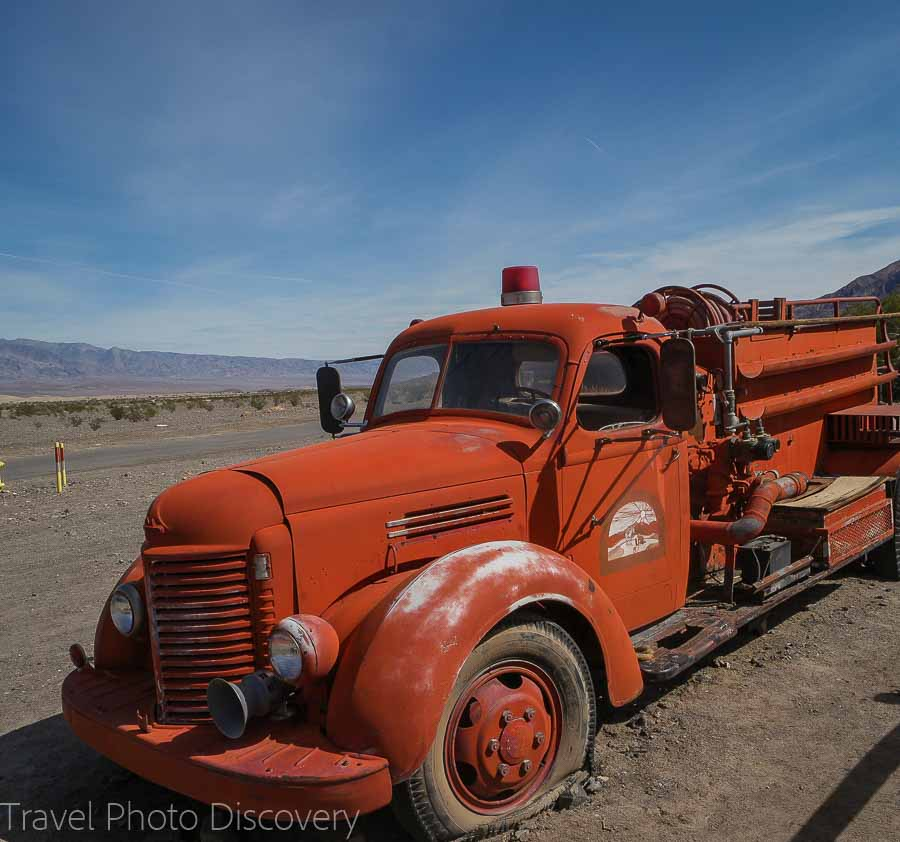 Old fire truck at Death Valley National park