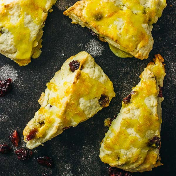 Easter dessert and foods Orange cranberry scones with Savory Tooth