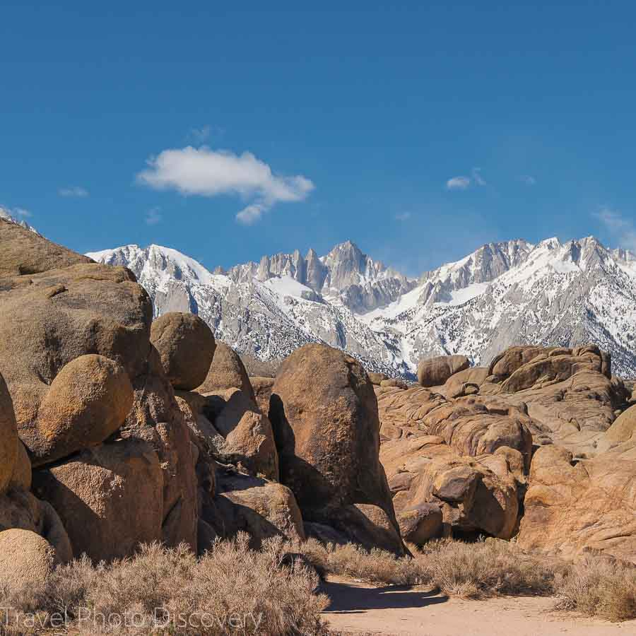 Travel Photo postcard at Alabama Hills