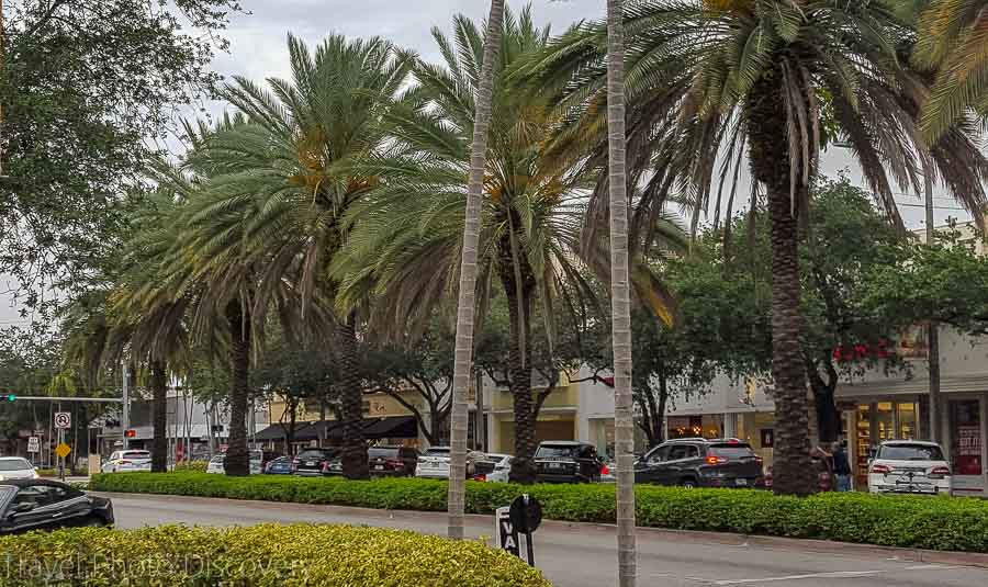 Coral Gables downtown district in Miami