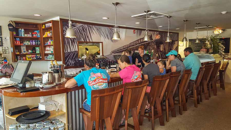 Café dining at Grassy Key Outpost