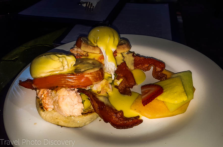 Lobster and eggs benedict at the Blue Heaven Key West