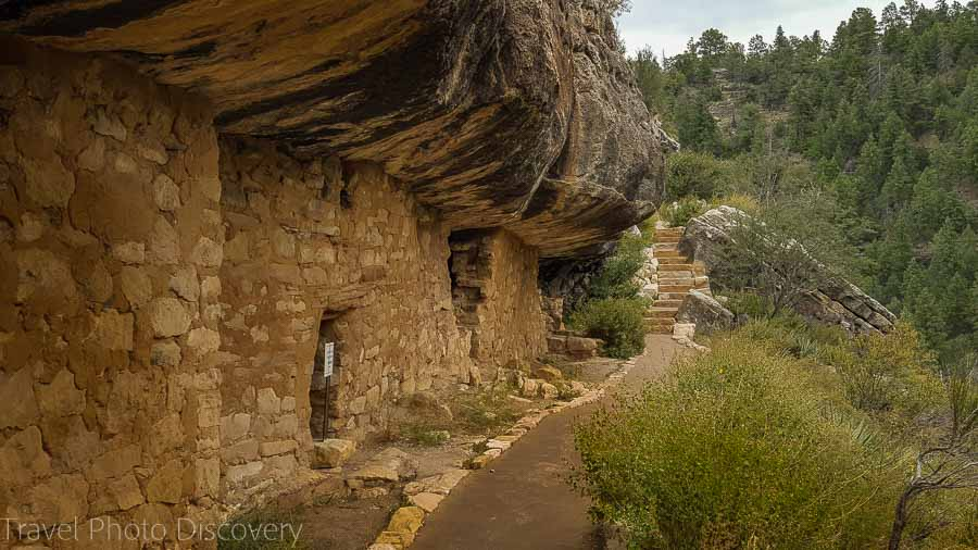 The cliff dwellings at Walnut Canyon National Monument