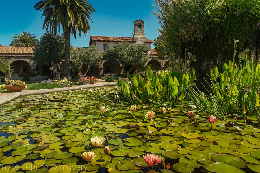 Water garden at San Juan Capistrano Mission