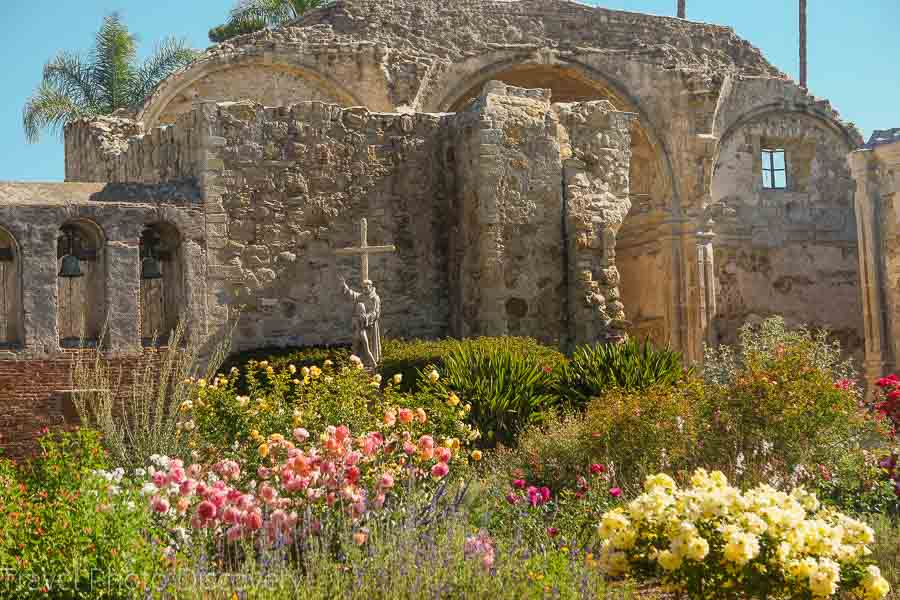 San Juan Capistrano ruins and Mission in California