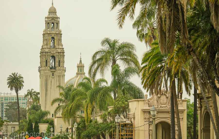 Architecture at El Prado Exploring Balboa Park in San Diego