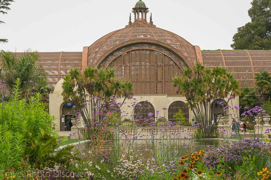 Botanical Building and pond at Balboa Park in San Diego