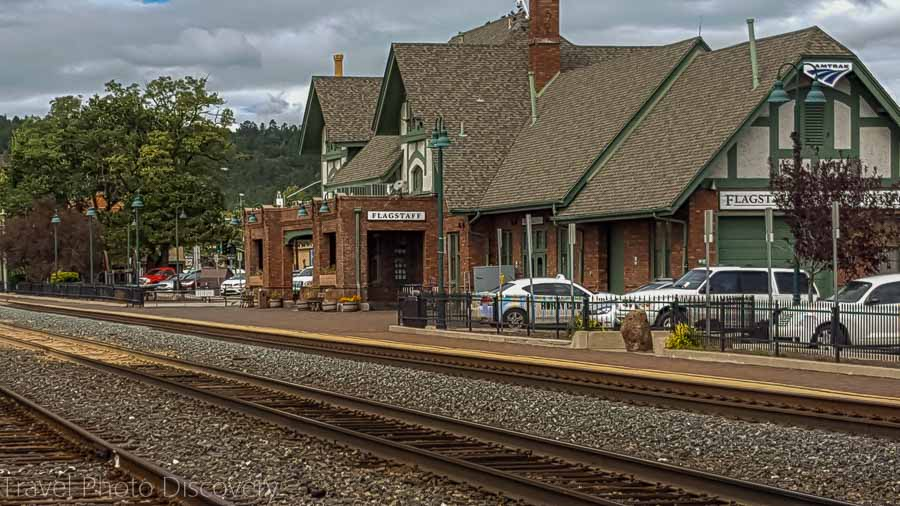 Working train station and museum at Flagstaff