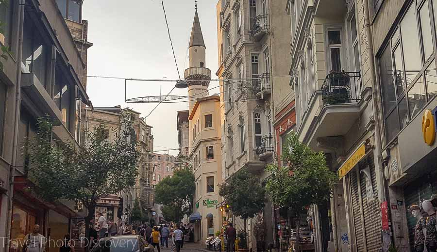 Walking the streets to the Galata district and Istiklal