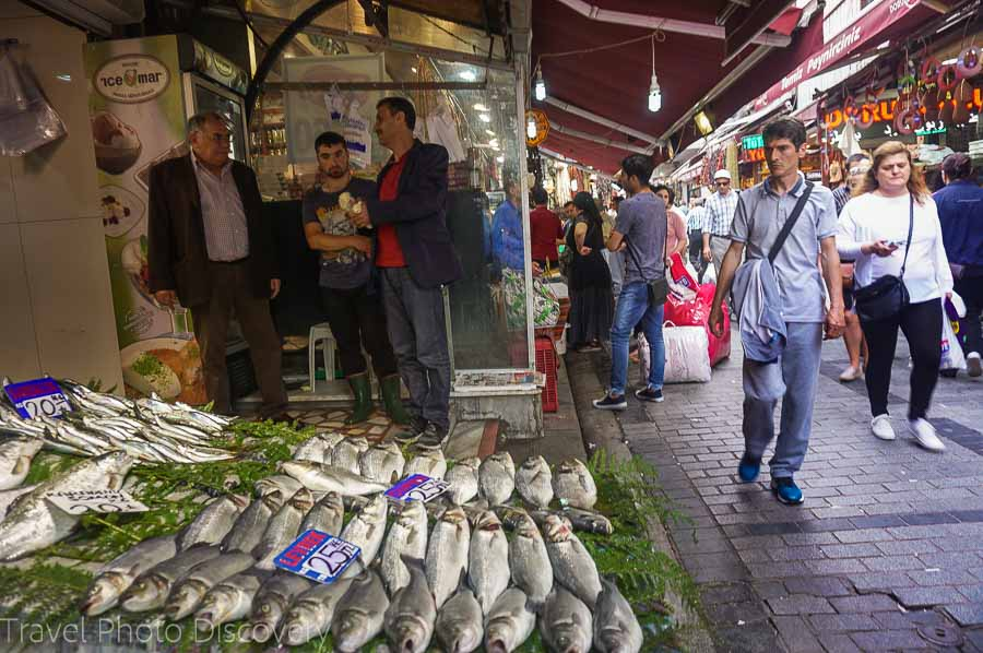 Grand bazaar and the fish market in Istanbul