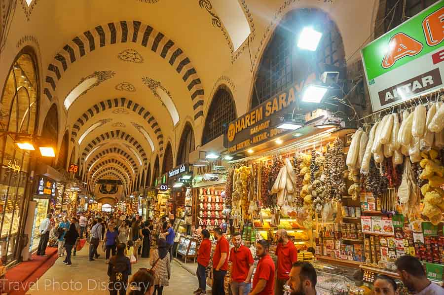 Grand Bazaar shopping arcades in Istanbul