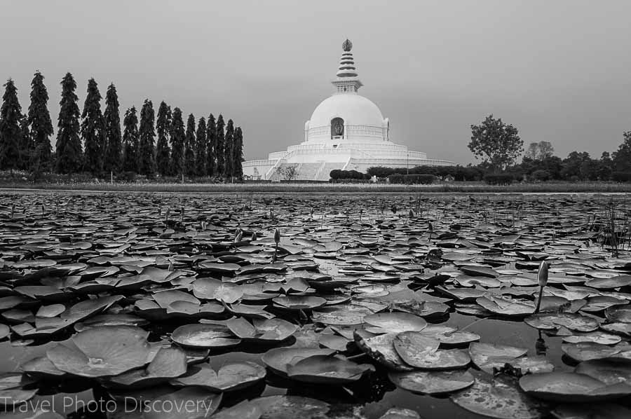 Lumbini monasteries in Nepal - birthplace of the Buddha