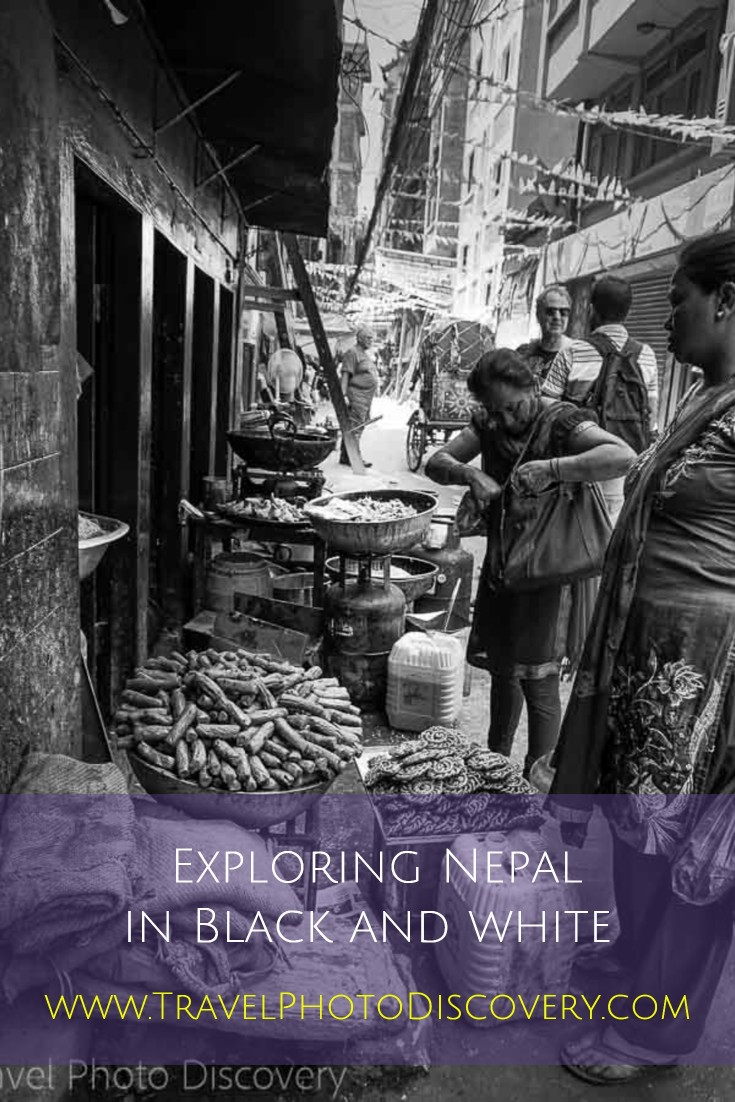 Nepal photography in black and white