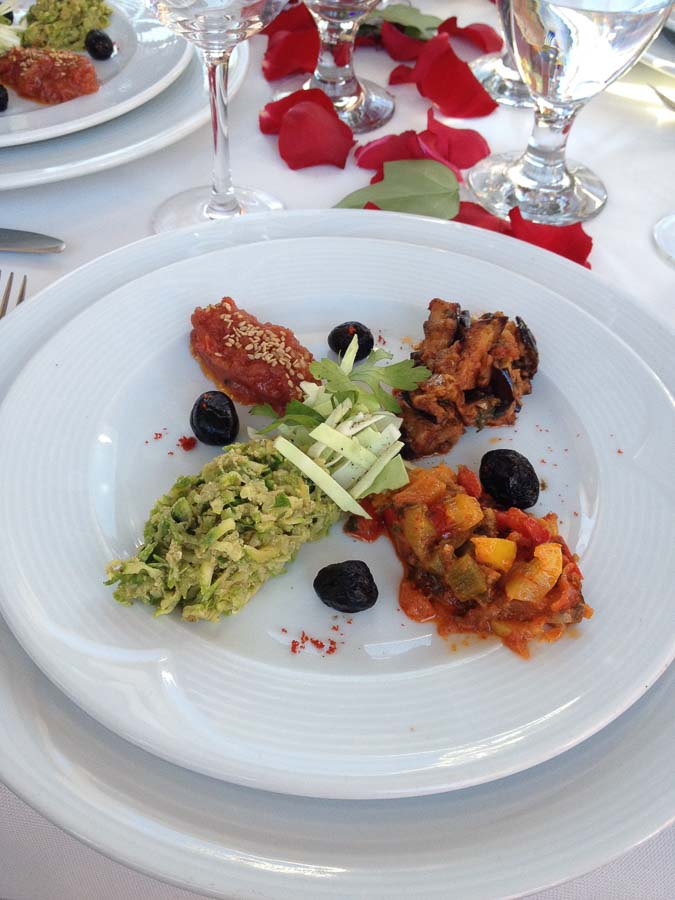 Cooked salad course - foods to try in Morocco
