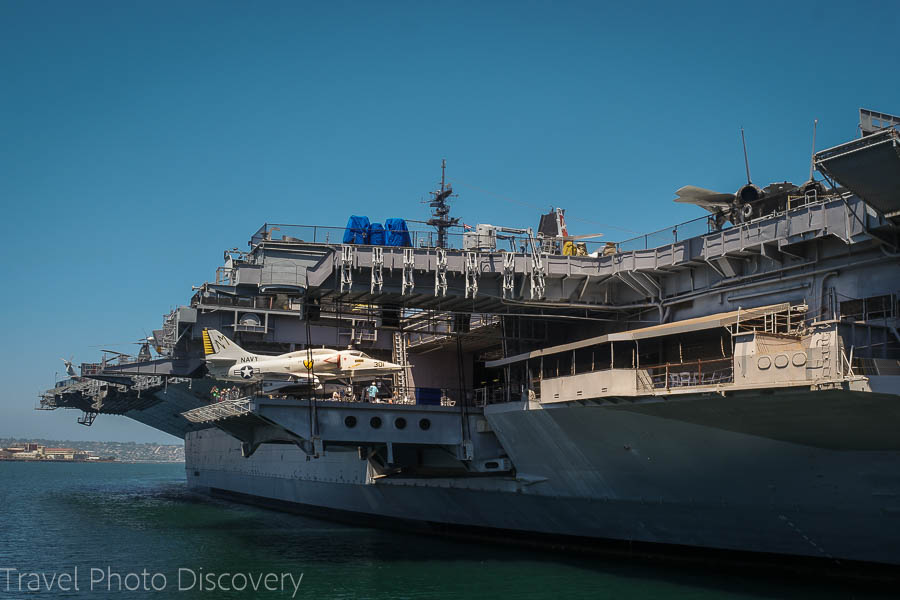 USS Midway aircraft carrier in San Diego's waterfront