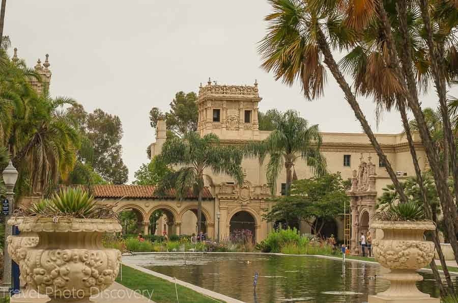 Historic buildings and architecture at Balboa Park San Diego