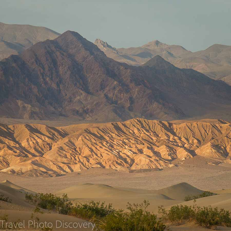 Death Valley National Park along the Eastern Sierra mountains