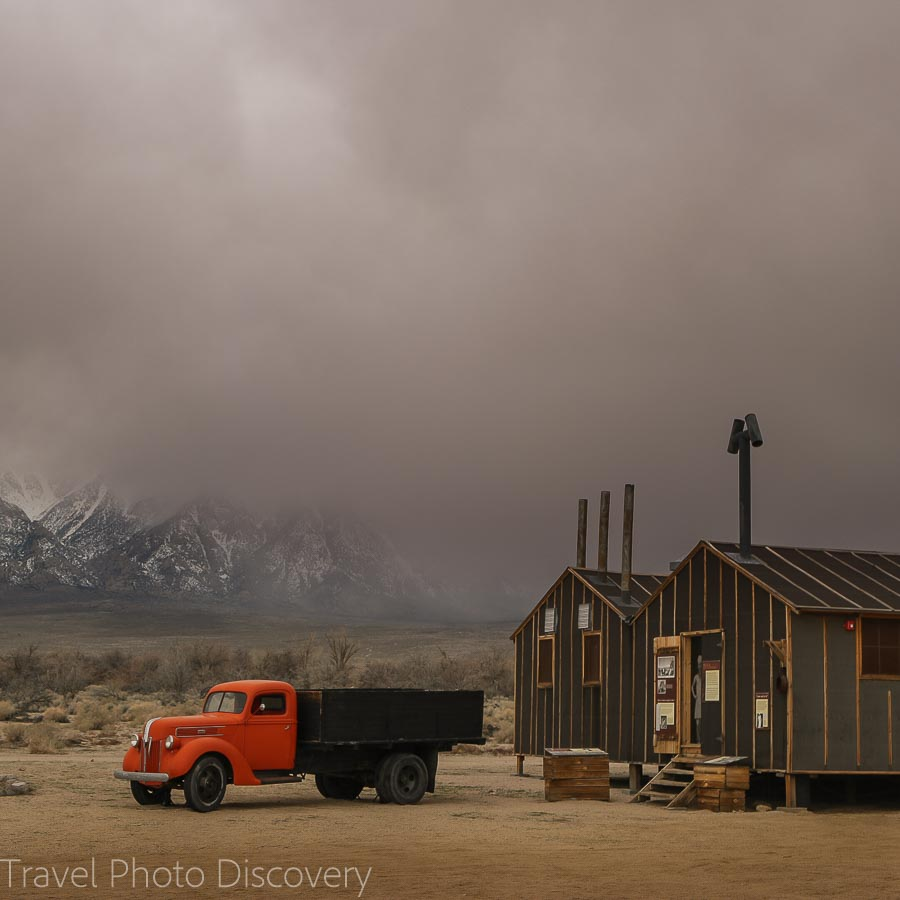 Manzanar Internment camp at the base of the Eastern Sierras of California