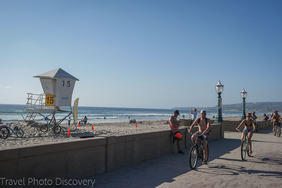 Mission Beach and Belmont Park in San Diego