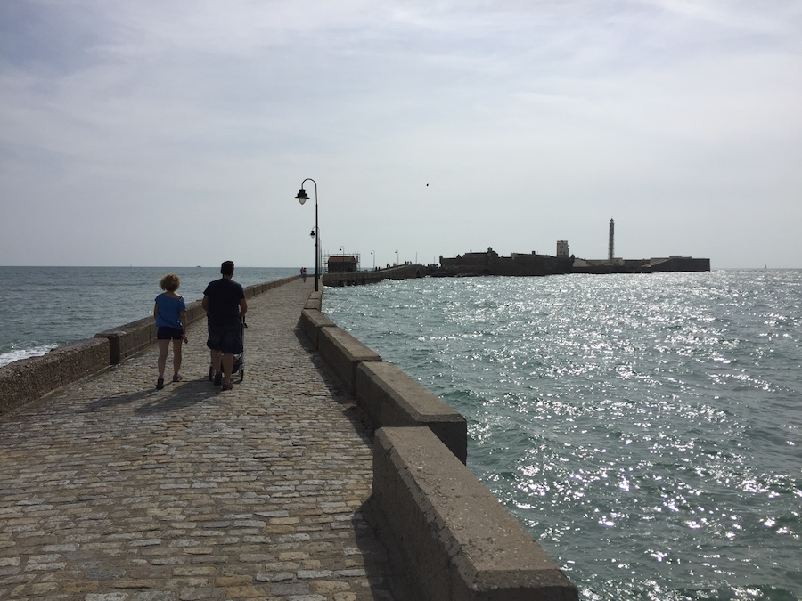 A castle on the bay in Cadiz Spain