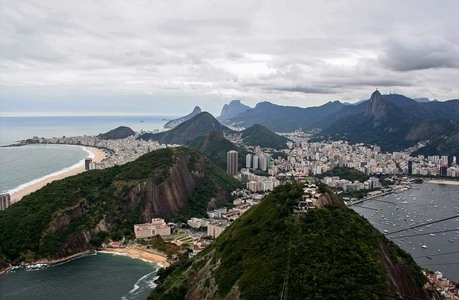 Views of sugar-loaf mountain in Rio