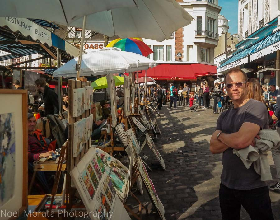 Artist quarter at Montmartre in Paris