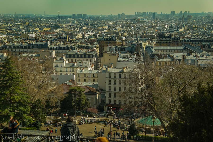 Views of Paris from Sacre Coeur
