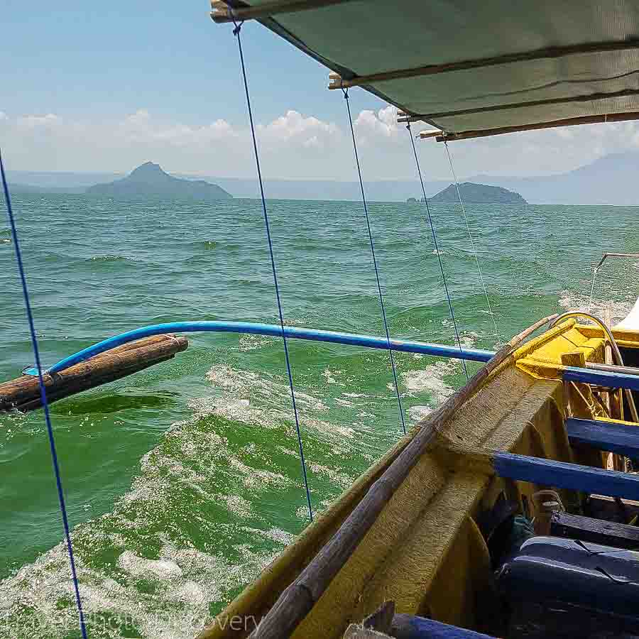 banca cruise along Mactan channel to local islands