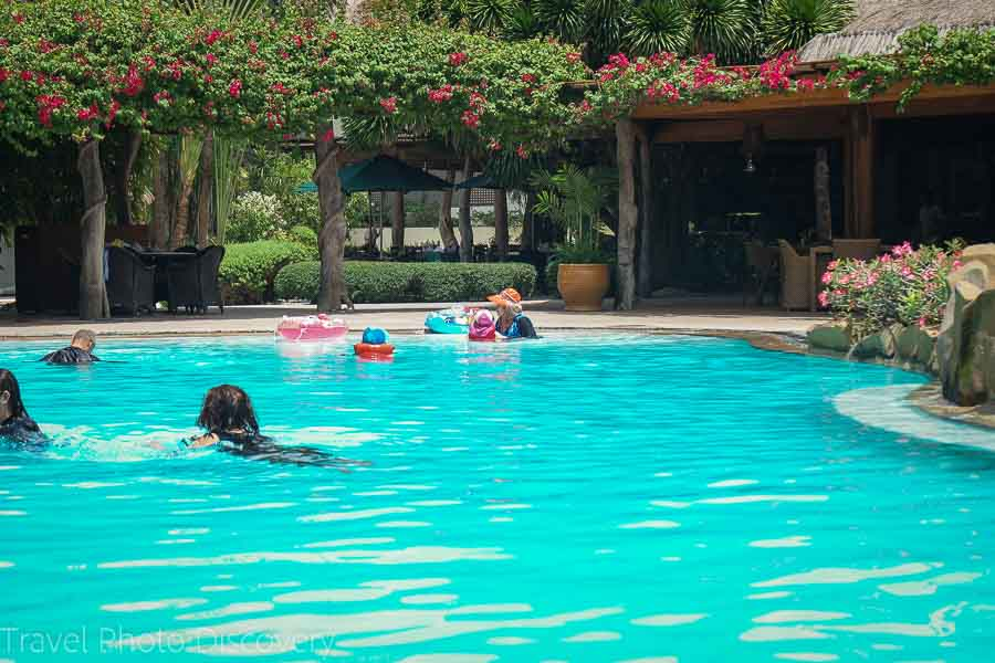 The pool at the Bluewater Maribago resort