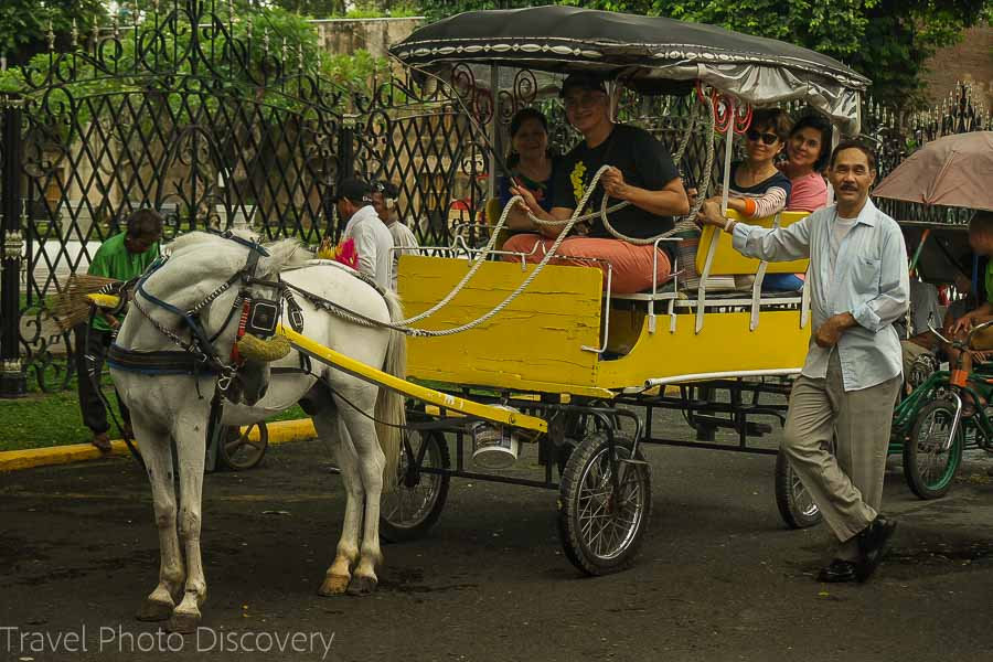 Kalesa ride through Manila's Intramuros district