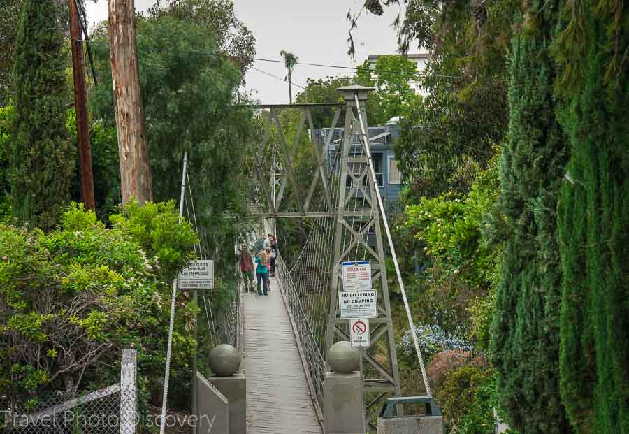 San Diego attractions a suspension bridge downtown