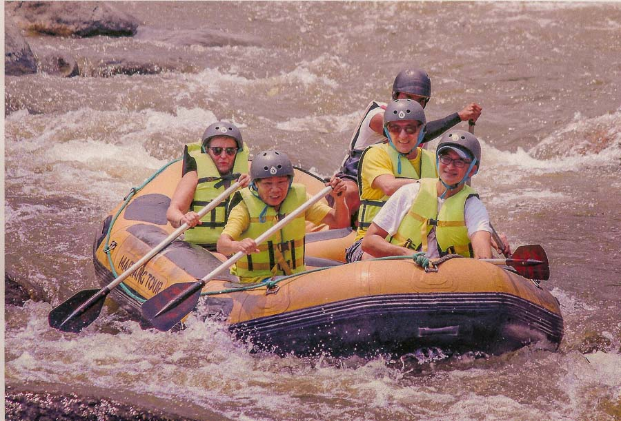 Water rafting outside of Chiang Mai, Thailand