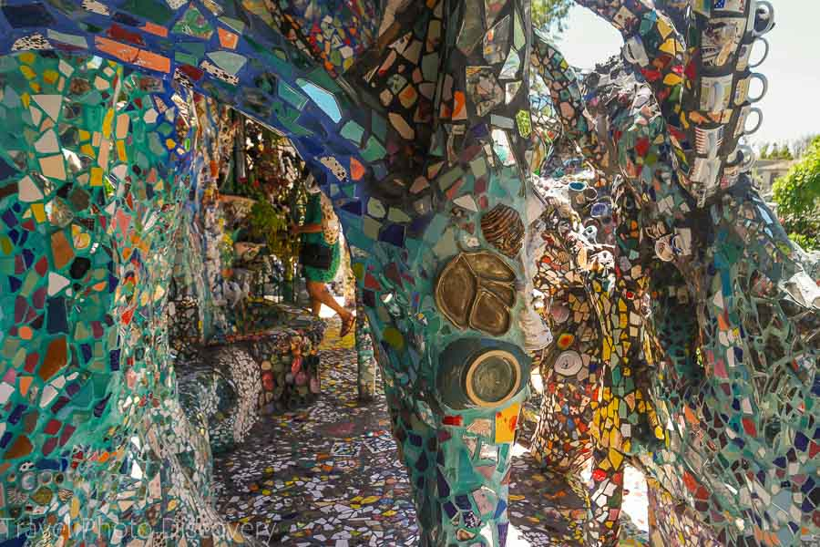 Venice beach quirky mosaic art