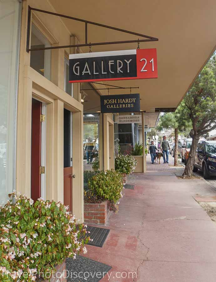Carmel town and art gallery tour