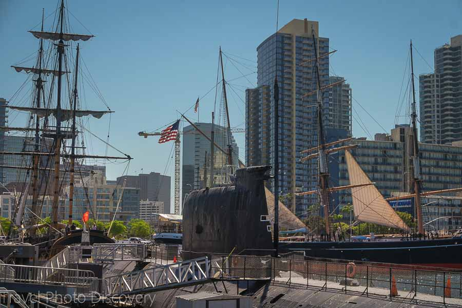 San Diego downtown and the maritime museum