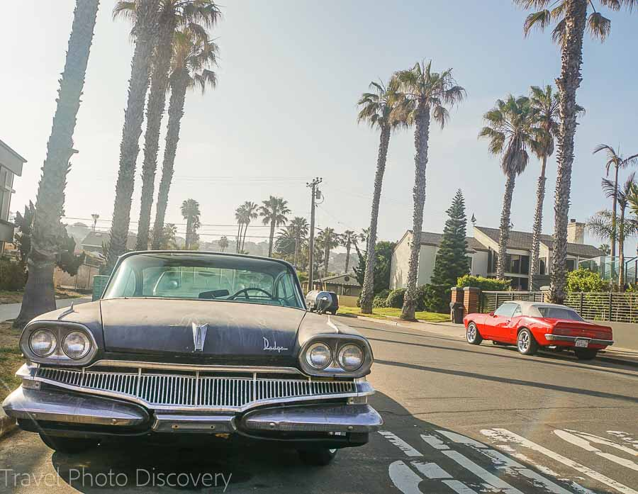 Vintage cars at Sunset Cliffs