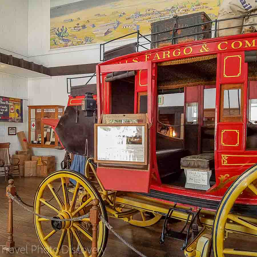 Wells Fargo stage coach in old town