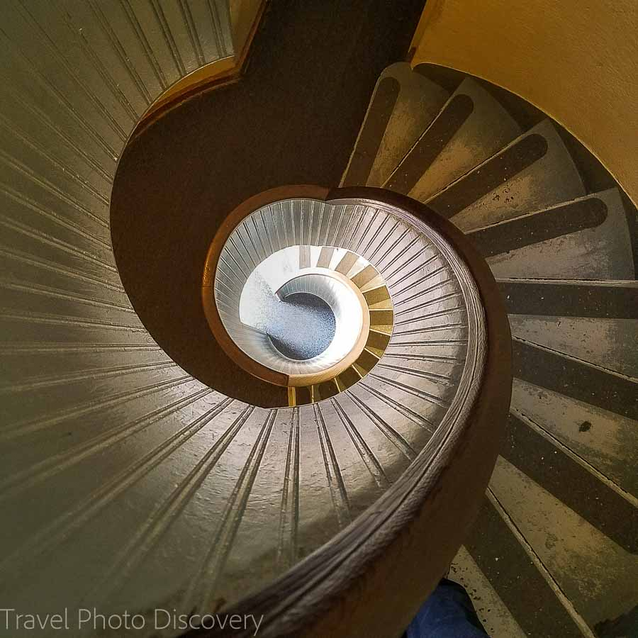 Spiral staircase to the lighthouse tower