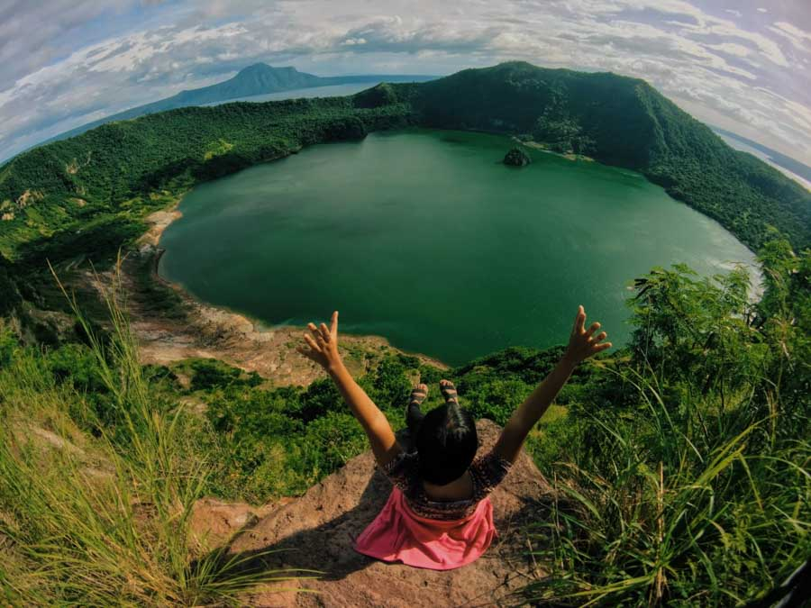 Climbing adventure at Taal Volcano Philippines
