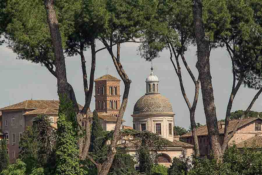Views of Rome from Villa Borghese park