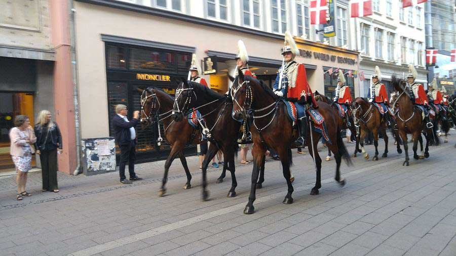Changing of the guards in Copenhagen