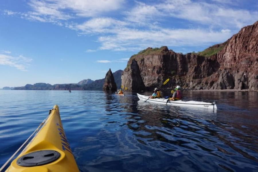 Kayak adventure at Sea of Cortez Baja Mexico
