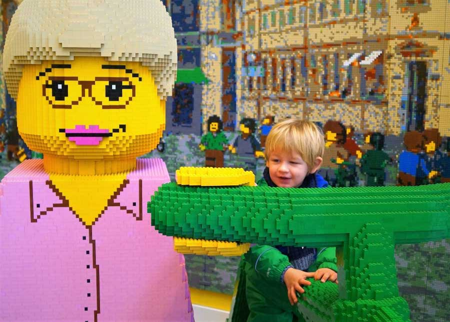 Checking out Lego store in Copenhagen