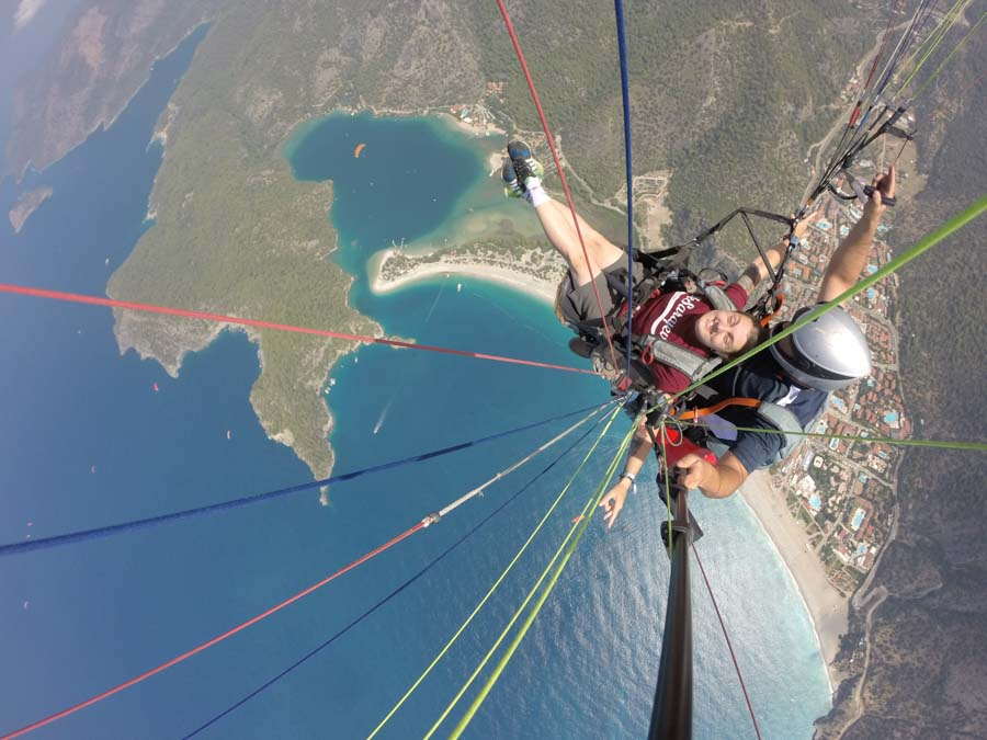Paragliding adventure over the Blue Lagoon in Turkey