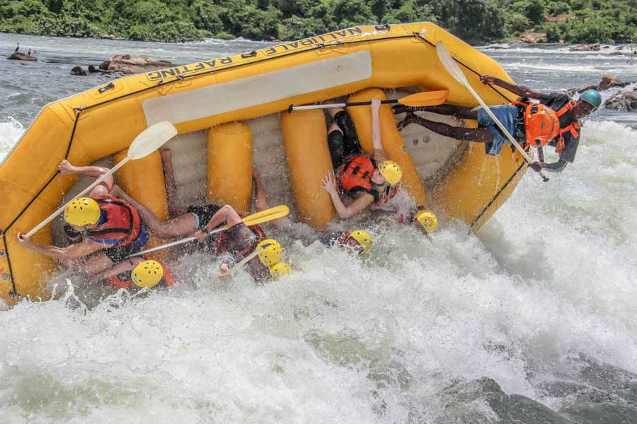 River rafting on the nile river