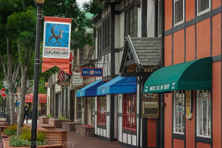 Walking around Solvang in Santa Barbara wine country and region