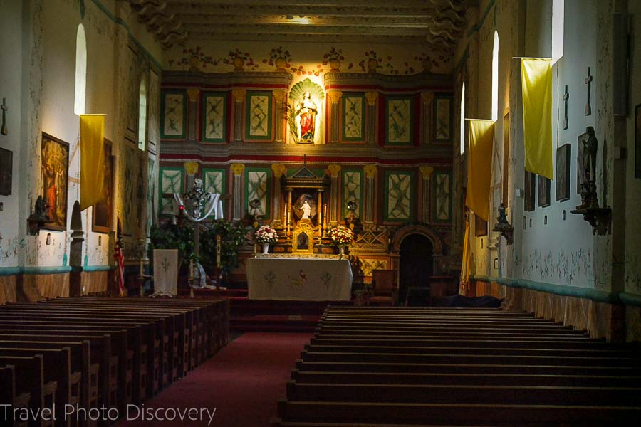 Mission Santa Ines interior in Solvang, CA