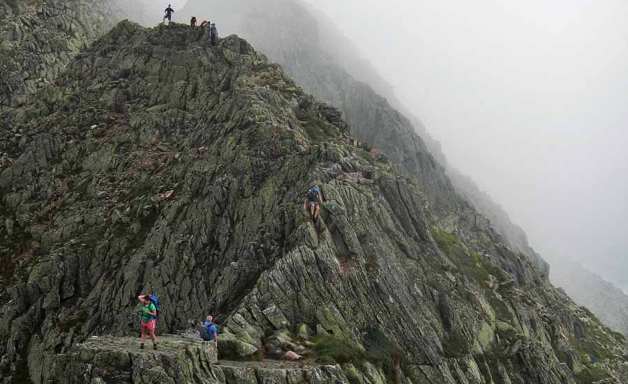 hiking adventure at Maine Knife Edge Katahdin Baxter State Park