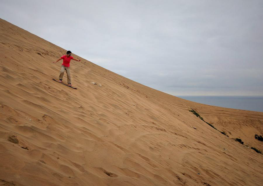 sand boarding in Concon Chile